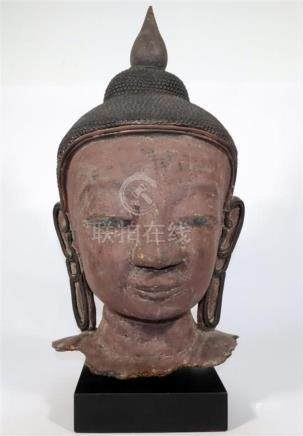 A Lacquer Head of Buddha Shakyamuni, a Meditative Expression