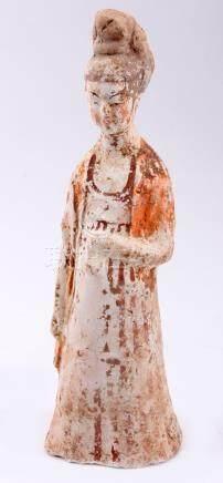 Antique terracotta Quanyin sculpture, h.27 cm.