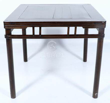 Old Chinese side table with bamboo legs, h.87 x w.95 x d.95