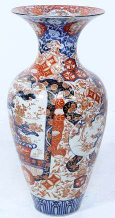 Large antique Imari collar vase, Japan 19th century, h.78 cm