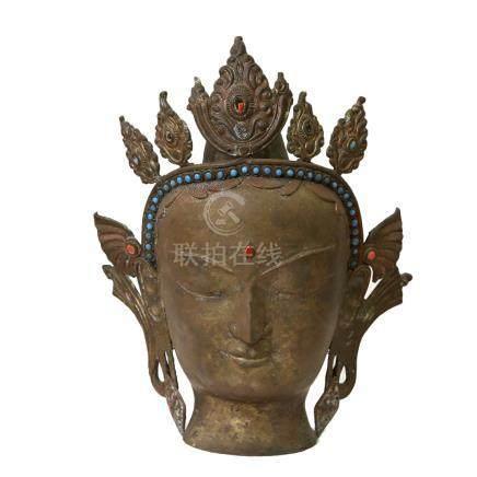 古銅菩薩頭像