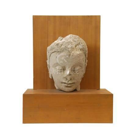 石雕釋迦牟尼頭像