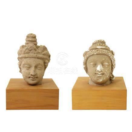 石雕女神頭像 2件