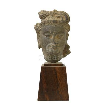 石雕女神頭像