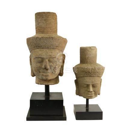 石雕頭像 2件
