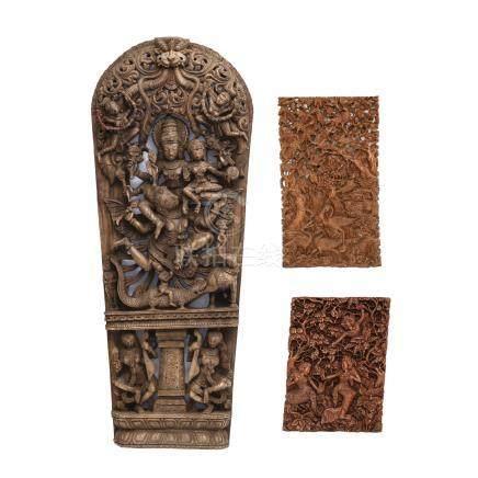 木雕人物像 3件