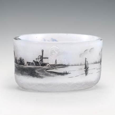 杜姆兄弟 荷蘭風景紋小鹽皿