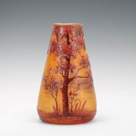 杜姆兄弟 湖水風景紋花瓶