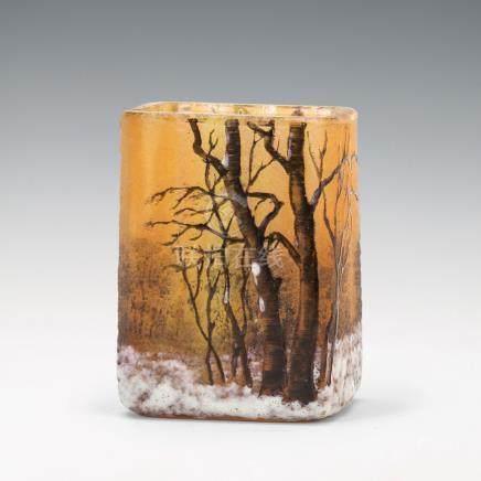 杜姆兄弟 冬景色紋花瓶