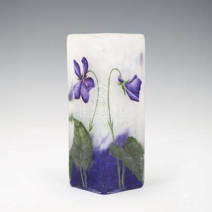 杜姆兄弟 紫羅蘭紋花瓶
