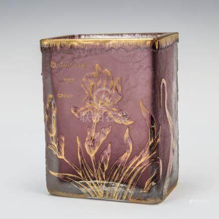 杜姆兄弟 鳶尾花紋花瓶