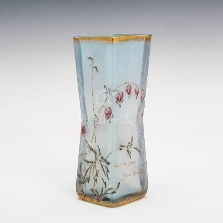 杜姆兄弟 荷包牡丹紋花瓶