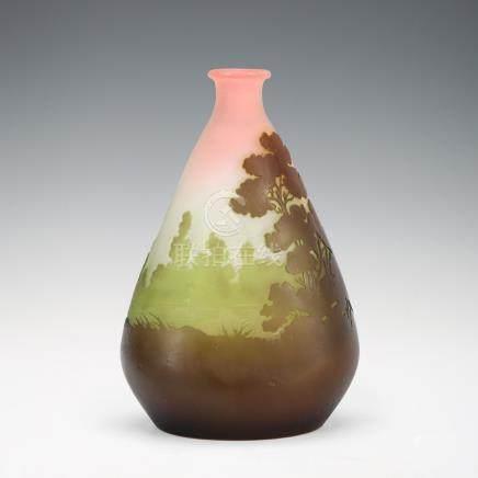 愛彌兒・賈列 風景紋花瓶
