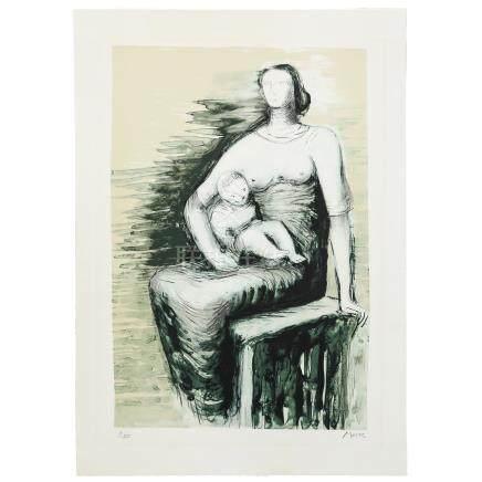 亨利·斯賓赛·摩爾 椅座的母子
