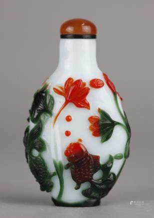 Chinese glass snuff bottle, possibly 19th c.