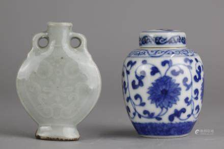 2 Chinese porcelain wares, possibly 19th c.
