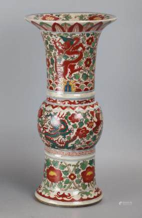 Chinese multicolor vase, possibly 19th/20th c.