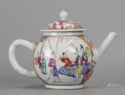 Chinese export multicolor teapot, possibly 18th c.