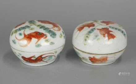2 Chinese cover boxes, possibly 19th c.