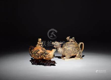A Chinese 19th century ivory teapot