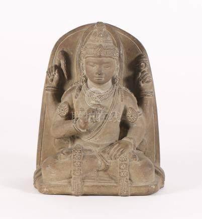 Southeast Asian Carved Stone Figure of a Deity FR3SHLM