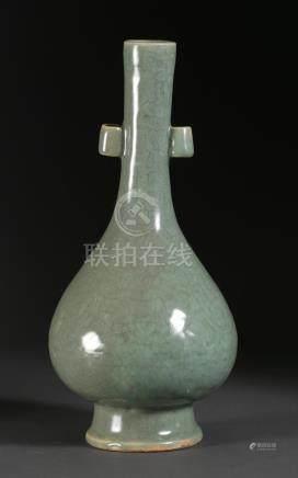 Chinese Celadon Footed Pear Form Vase FR3SHLM