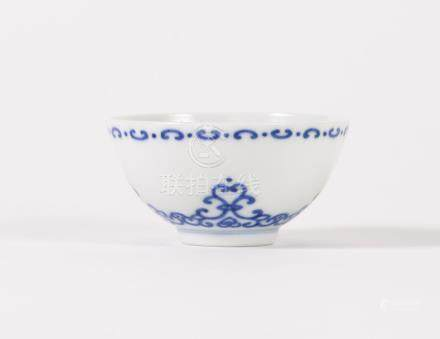 Chinese Porcelain Blue and White Cup, Yongzheng Mark, but Modern  FR3SHLM