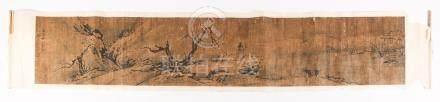Chinese Ink on Paper, Handscroll, Scholar in a Landscape  FR3SHLM