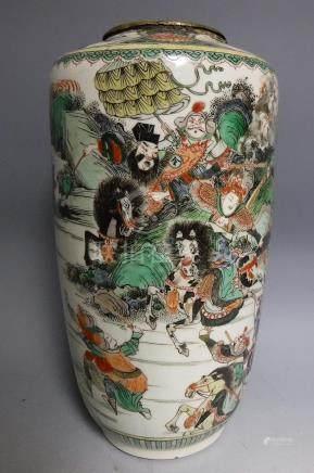 Chinese Qing Polychrome Porcelain Vase, A3WBC