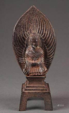 Iron statue of Shakyamuni Buddha.  A3WBB