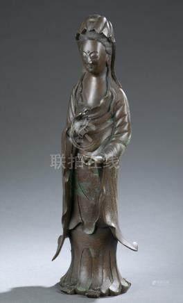 Bronze statue of Guanyin.  A3WBB