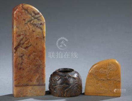 3 Chinese scholars objects.  A3WBW
