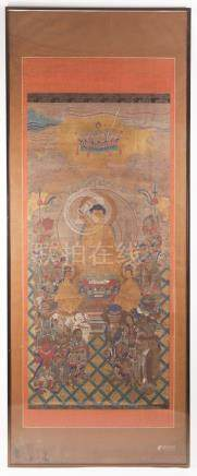 Japanese Painting, Ink on Paper, Buddhist Pantheon, 19th Century  A3WAP
