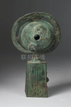 Chinese Archaic Bronze Hand Bell, Han Dynasty A3WAA