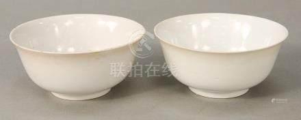 Pair white (Blanc de Chine) bowls, China, 18th/19th century,