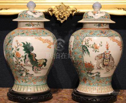 Pair of Exceptional Chinese Kangxi Vases