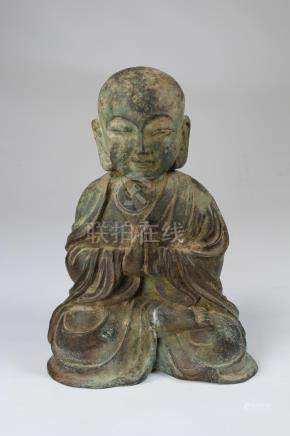 Early Antique Chinese Bronze Seated Daoist Buddha