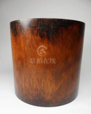 Large Antique Chinese Huanghuali Brush Pot