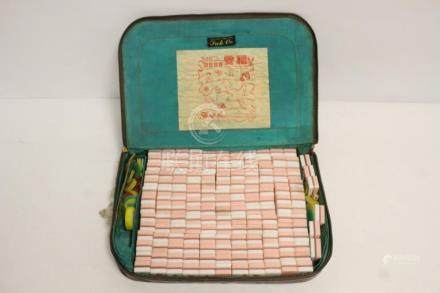 Very rare Chinese early 20th c. Lucite mahjong set