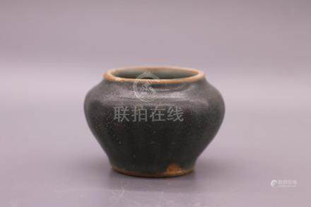 Chinese Black Glazed Porcelain Jar