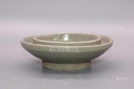 Chinese Green Glazed Porcelain Plate Or Cup Holder