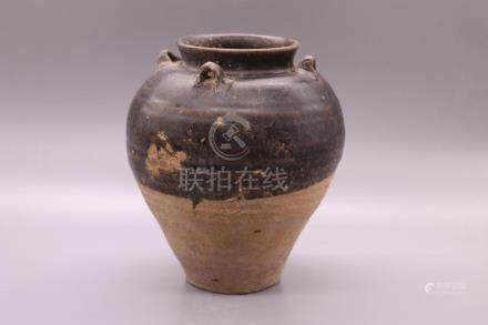 Chinese Brown Glazed Pottery Vase