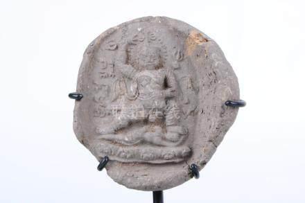 Chinese 12th c mud Buddha