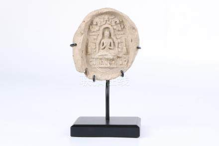 Chinese 12th c mud Tathagata