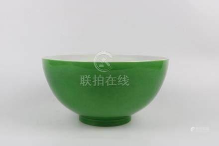 Chinese green glaze bowl