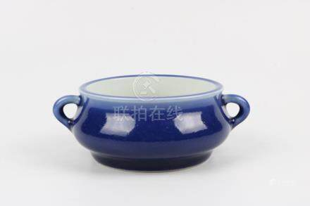 Chinese blue glaze Incense burner