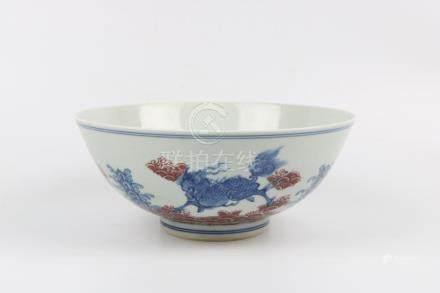 Chinese blue and white glaze bowl