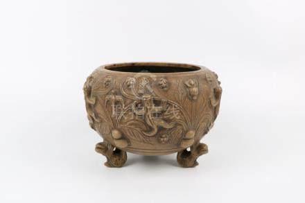 Chinese zi-sand incense burner