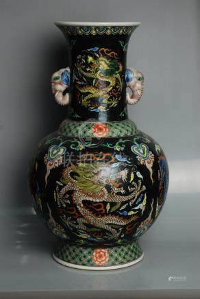 Chinese Famille Rose Vase with dragon