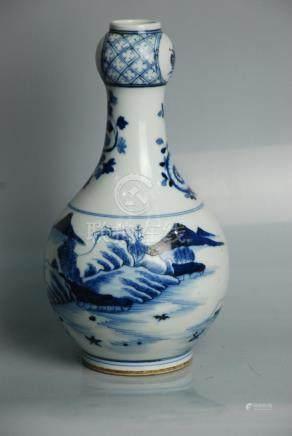 Chinese Blue & White SuanTou Vase